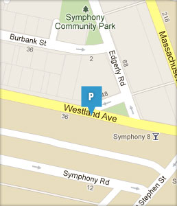 Map of Westland Avenue Garage